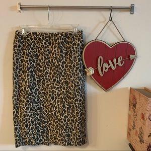 J. Crew Leopard pencil skirt Sz 00